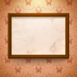Aged frame on the wall — Stock Vector #10761738