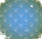 Poškrábaný vzorek s florálním ornamentem — Stockvektor