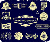 Set of vintage labels on the black. Collection 1 — Stock Vector