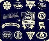 Etiquetas vintage en el negro. colección 2 — Vector de stock