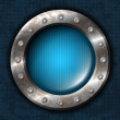 Royalty-Free Stock Vector Image: Metal circle with rivets