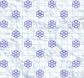 Drawn flower pattern — Stock Vector
