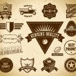 Vintage labels. Collection 13 - Imagen vectorial