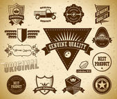 Vintage labels. Collection 13 — Stock Vector