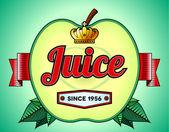 Apple juice label — Stock Vector