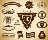 Vintage labels. Collection 14 — Stock Vector
