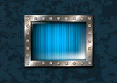 Metal window with rivets — Stock Vector