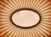 Ellips ram med strålar — Stockvektor