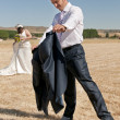 Man dressed as a groom — Stock Photo