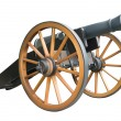 Old artillery cannon — Stock Vector