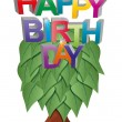 Royalty-Free Stock Vector Image: Happy birthday tree