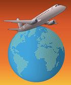 世界の飛行機 — ストックベクタ