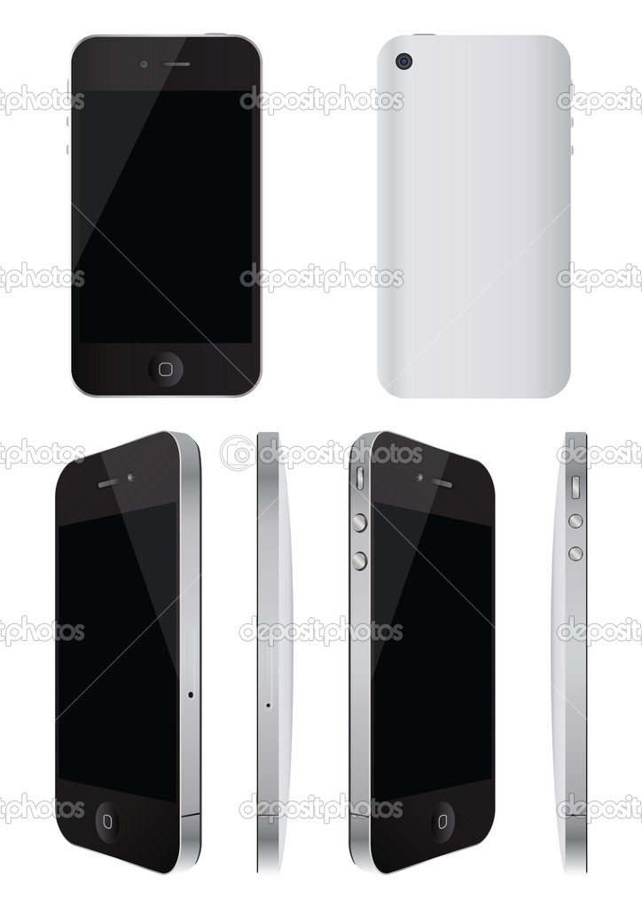 Illustration set of cellular phone  Stock Vector #10923495