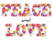 мир и любовь цветы — Cтоковый вектор