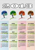 2013 calendar season tree — Stock Vector