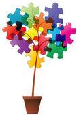 Rostlin puzzle — Stock vektor