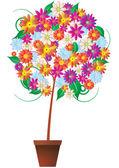 Flower plant — Stock Vector