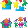 Stock Vector: Puzzle house