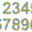 Stock Vector: Numbers balloons
