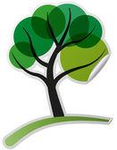 Tree sticker — Stock Vector