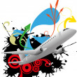 Airplane abstract — Stock Vector