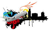 Airplane abstract — Vector de stock