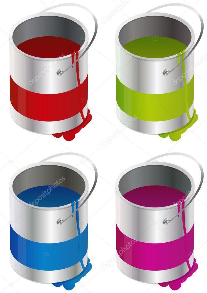 Paint Bucket Vector Paint Bucket Vector by