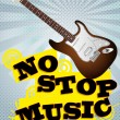 Stockvektor : No stop music
