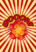 Boom sunburst — Stock Vector