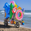 Street vendor on the beach — Stock Photo