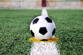 Soccer ball on grass — Foto de Stock