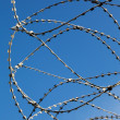 Barbed wire on the fence — Stock Photo #11009747