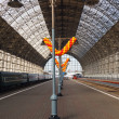 Moscow Central Station early on a clear morning — Stockfoto