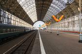 Moskau-hauptbahnhof früh an einem klaren morgen — Stockfoto