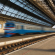 Lviv central Station early on a clear morning — Stock Photo