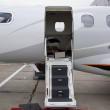 Stock Photo: Ladder in private jet
