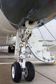 Avions légers de train d'atterrissage avant — Photo