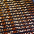 Stock Photo: Airport flight information