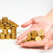 A house built of coins — Stock Photo
