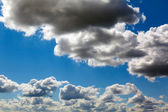 Blue sky with light clouds — Stock Photo