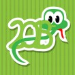 2013 year of the snake with green background — Stock Vector #11972261