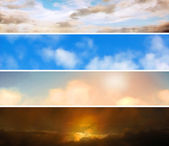 Sky banners — Stock Vector
