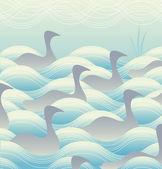 上水鸭 — 图库矢量图片