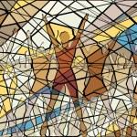 Aerobic mosaic — Stock Vector #11320774