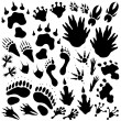 Alien monster footprints — Stock Vector #12281244