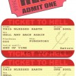 Ticket to hell — Imagen vectorial