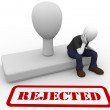 Man rejected — Stock Photo