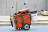 Street cleaner cart — Stock fotografie