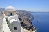 Panoramic of Santorini Caldera — Stock Photo