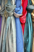 Knotted scarves — Stock Photo